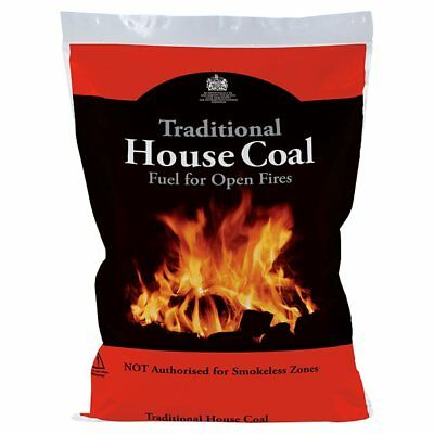 x3 10kg Bags of House Coal Open Fires Multi Stoves & Ovens