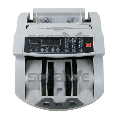 Money Bill Counter Machine UV MG Cash Counting Bank Counterfeit Detector Checker