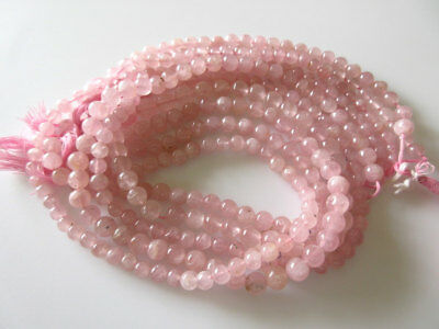 Natural Pink Rose Quartz Smooth Round Beads/ 6mm Beads/ 13.5 Inch Strand, GDS479
