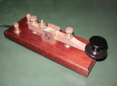 HKA Kent Standard Brass Straight Morse Key Assembled - SM TECHNOLOGY