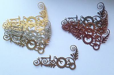 New - Steampunk Gear Corner Die Cuts - Gold/Copper Mix