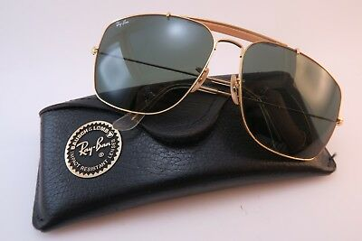 Vintage B&L Ray Ban Caravan sunglasses size 62-14 BL etched lens made in the USA