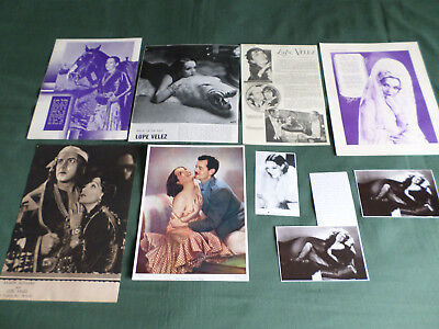 Lupe Velez - Film  Star - Clippings - Cuttings-Pack