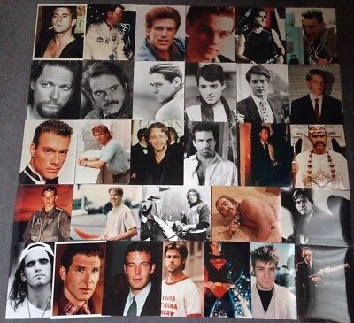 """LOT OF 30 10""""x8"""" GLOSSY PHOTO REPRINTS FEATURING LEADING ACTORS"""