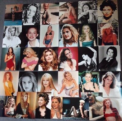 """LOT OF 30 10""""x8"""" GLOSSY PHOTO REPRINTS FEATURING LEADING ACTRESS'S"""