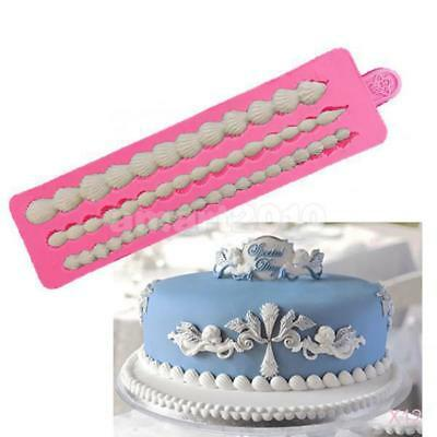12x 3 Strings Shells Silicone Cake Mould Jelly Mold DIY Bake Decorating Ice Tool