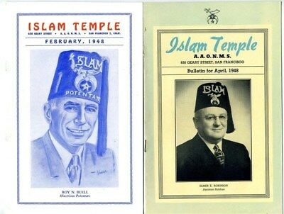 2 ISLAM Temple Bulletins 1948 San Francisco California Shrine