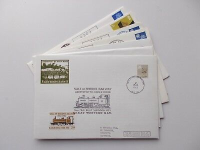 7 Vale of Rheidol Railway letter stamp philatelic covers. See pics below.