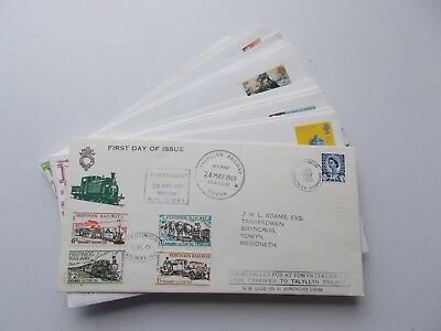 14 Festiniog Railway letter stamp philatelic covers & 1 MS. See pics below.