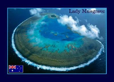 Australia Lady Musgrave Island Aerial View New Postcard