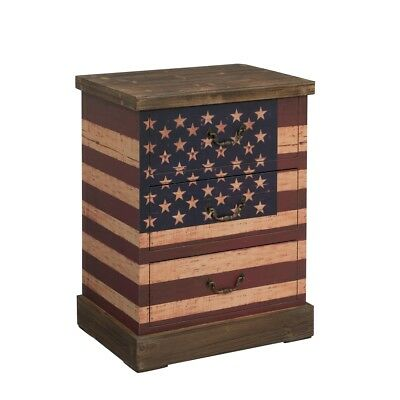 "Three Drawer Chest H26.50"", Old Glory Rustic"