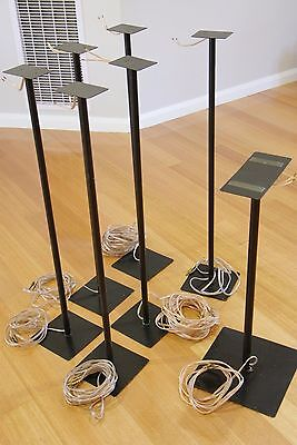 Custom speaker stands for Yamaha 7.1 or equivalent system plus copper cables