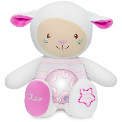 New Chicco Pink First Dreams Nightlight Lullaby Sheep Night Light From Birth