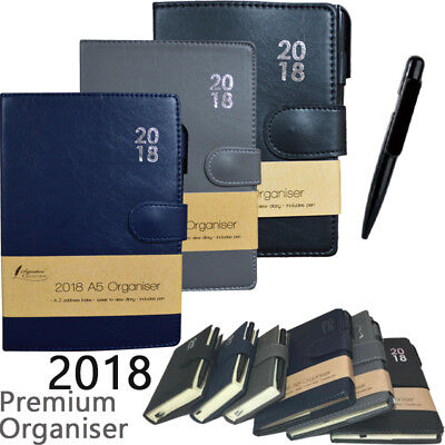 2018 Diary Organiser Pen Premium Week To View Pen A5 A6 Pocket Christmas Gift
