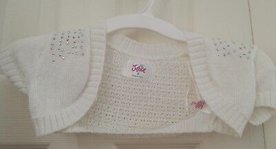 Justice Girls white Sweater Cover Up with sparkle Size 5