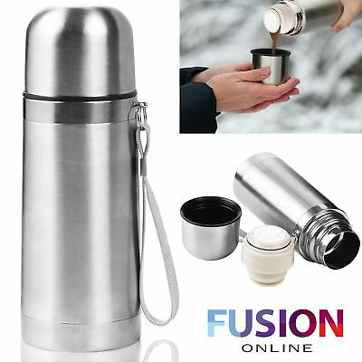 Stainless Steel Insulated Thermos Flask Vacuum Hot Drinks Tea Coffee 300 Ml