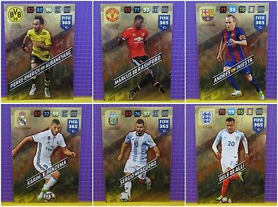 Panini Adrenalyn 2018 XL FIFA 365 - Limited Edition/Premium Gold *Free Postage*