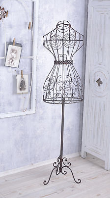 TAILOR'S DUMMY ANTIQUE IRON BUST Metal Mannequin Iron