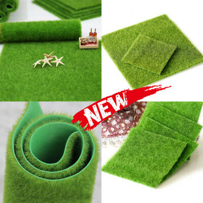 Artificial Synthetic Grass Carpet Garden Green Turf Lawn Ornament Dollhouse Xmas