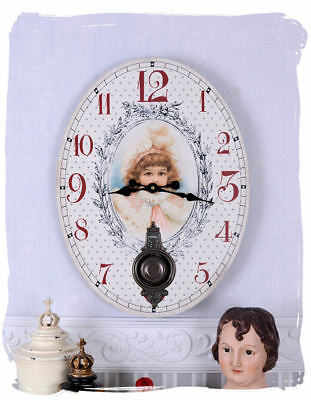 Shabby Chic Kitchen Clock Wall Clock Art Nouveau Clock Nostalgia Antique