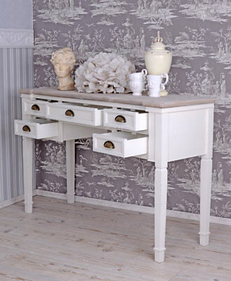 Console Table Country Style Desk Antique Style White Wall Table
