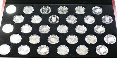 2002- 2011 P D S Kennedy Half Dollar Uncirculated & Proof Set 30 Coins in a Box