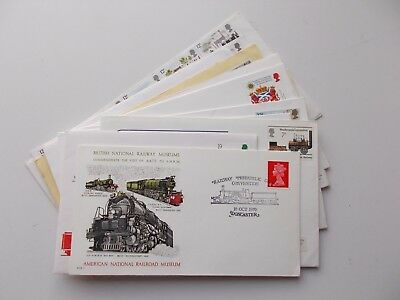 12 x assorted railway themed philatelic covers. See pics below.