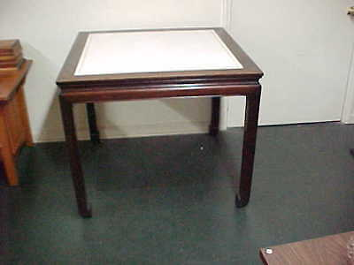 Vintage Chinese Table,  Leather Top