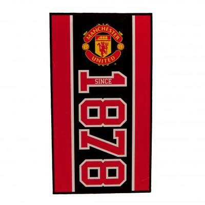 Manchester United FC Large Velour Beach Towel Official MUFC Accessories
