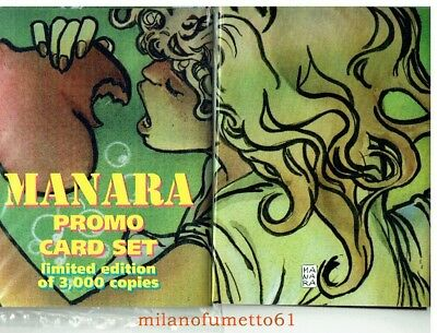 MILO MANARA SET DI 6 PROMO CARDS - Carte da collezione Limited Edition