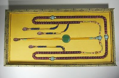 A Ruby Mandarin Court Necklace with fitted Box