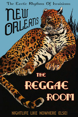 Peacock New Orleans Jazz Poker Memphis St Louis Vintage Poster Repro FREE S//H