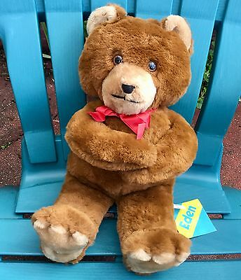 "Nwt 18"" Eden Toys Vintage Brown Teddy Bear Cub Plush Stuffed Animal Doll #10451"