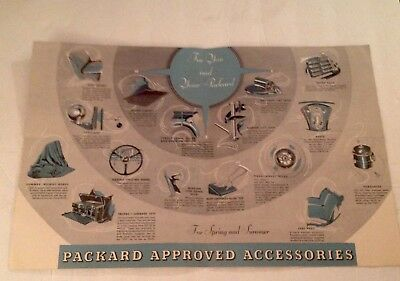 Packard 1936 advertisement with one cent Harding stamp postage original
