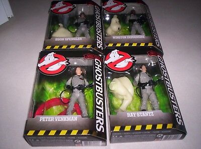 2016 Mattel Ghostbusters set of 4 Winston, Egon, Peter, Ray
