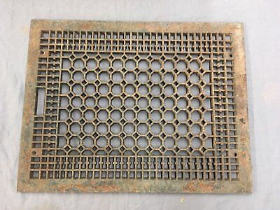 Large Antique Cast Iron Cold Air Return Vent Vtg Grill Honeycomb 24x18 695-17E