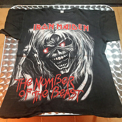 Vintage Iron Maiden 1998 THE NUMBER OF THE BEAST  Tour T Shirt Size L
