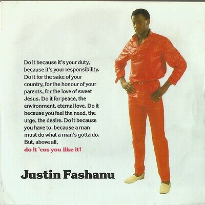"JUSTIN FASHANU - Do it cos you like it -  12"" 45rpm Vinyl single"