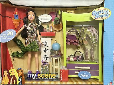 Barbie Doll My Scene Nolee Bedroom Room Getting Ready Playset Rare