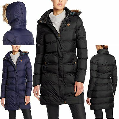 Lady Brave Soul Puffer Padded Jackets Casual Parka Quilted Fur Collar Hood Coats