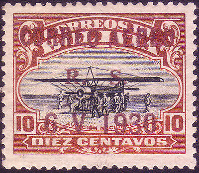 BOLIVIA 1930, Graf Zeppelin in South America (Scott C13) 50 pieces known!!!