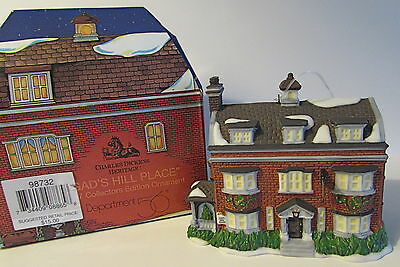 """'97 Dept 56 Charles Dickens Heritage """"gad's Hill Place"""" Coll. Edition Ornament"""