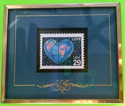 Beautifully Framed 1991 .29 Love Postage Stamp