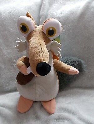 "Ice Age - Scratt The Sabre Tooth Squirrel - Soft Plush Toy / Teddy - 10"" Tall"