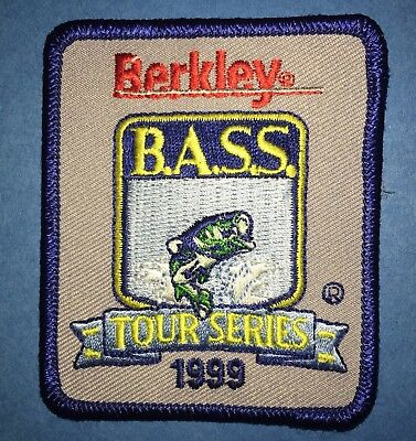 Rare 1999 Berkley B.A.S.S. Tour Series Fishing Hat Jacket Hipster Patch Crest