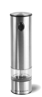 Electric Salt and Pepper Grinder w/ LED  Battery Operated Mill Stainless Steel
