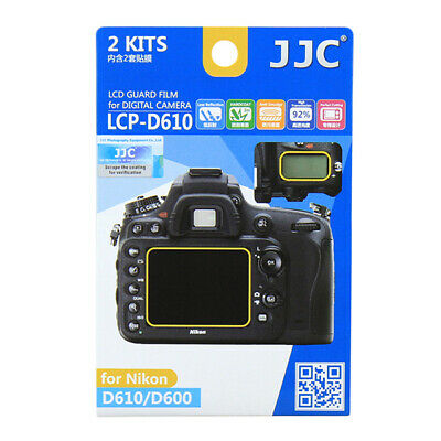 JJC 2x LCD Screen Protector Guard for Nikon D610 D600 Digital Camera