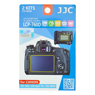 2 X LCD Screen Protector Guard 2pc Top & Back for Canon EOS 760D Rebel T6S 8000D