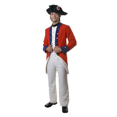 Dress Up America Adults Colonial Soldier Costume Fancy Dress Set