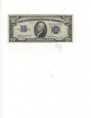 1934D $10.00 Silver Certificate Group, VF+, NICE!!